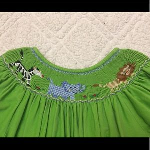 Anavini Dresses - Anavini Animal Smocked Dress